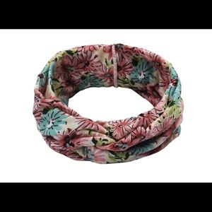 Accessories - Retro Knotted Headband Floral Print